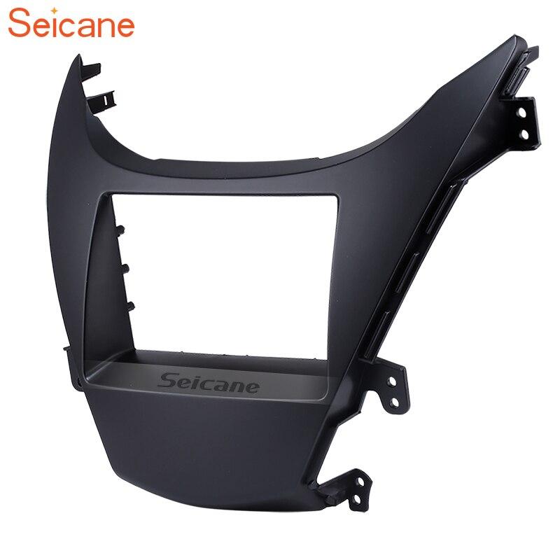 Seicane Black 2Din Car Fascias Stereo Frame Refitting Trim Mount Kit For HYUNDAI ELANTRA 2010-in Fascias from Automobiles & Motorcycles    1