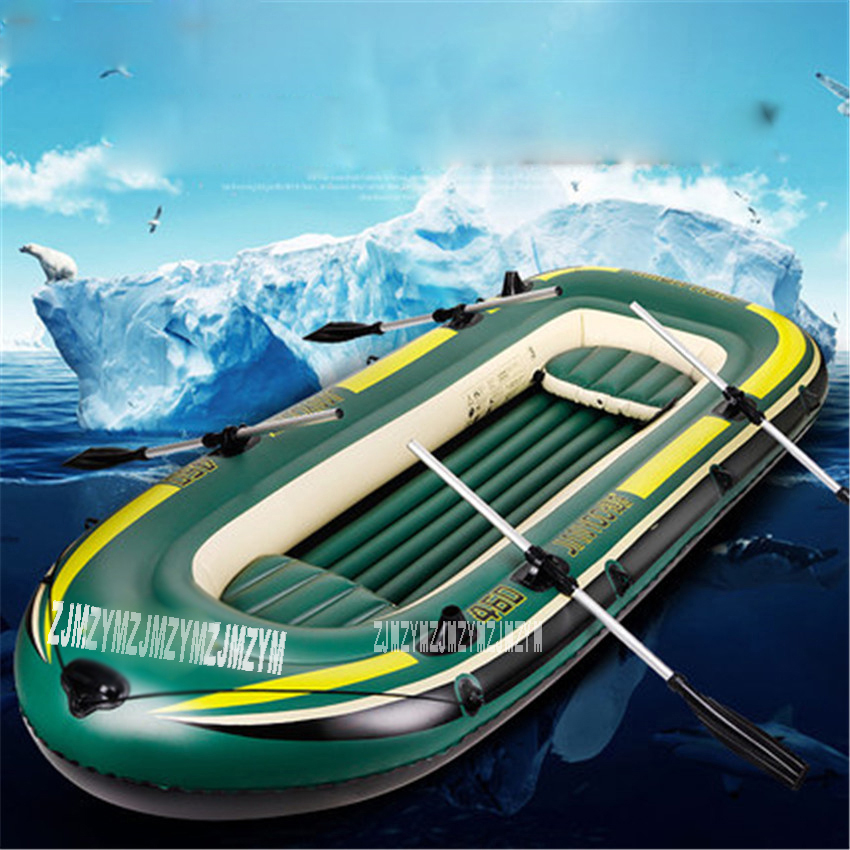 2 Persons Boat Inflatable Rowing Boat Double Adult Super Thickening PVC Inflatable Rowing Boat With  Spare Parts 230*130*36CM
