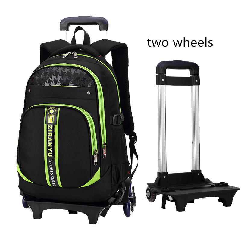 Latest Removable Children School Bags With 2 Wheels Kids boys girls Trolley Schoolbag Luggage Book Bags Wheeled Backpack used in good condition allen bradley panelview c400 2711c t4t ser a with free dhl ems