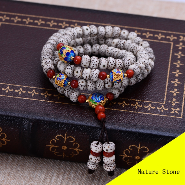 108Pcs 8mm Bodhi Bead Buddhist Beads Jewelry Mala Prayer Stone Tibetan Buddhism Chakras Meditation 71cm Long Bracelet XYPT02 aaa 4mm natural olivine beaded bracelet tibetan buddhist prayer beads necklace gourd mala prayer bracelet for meditation