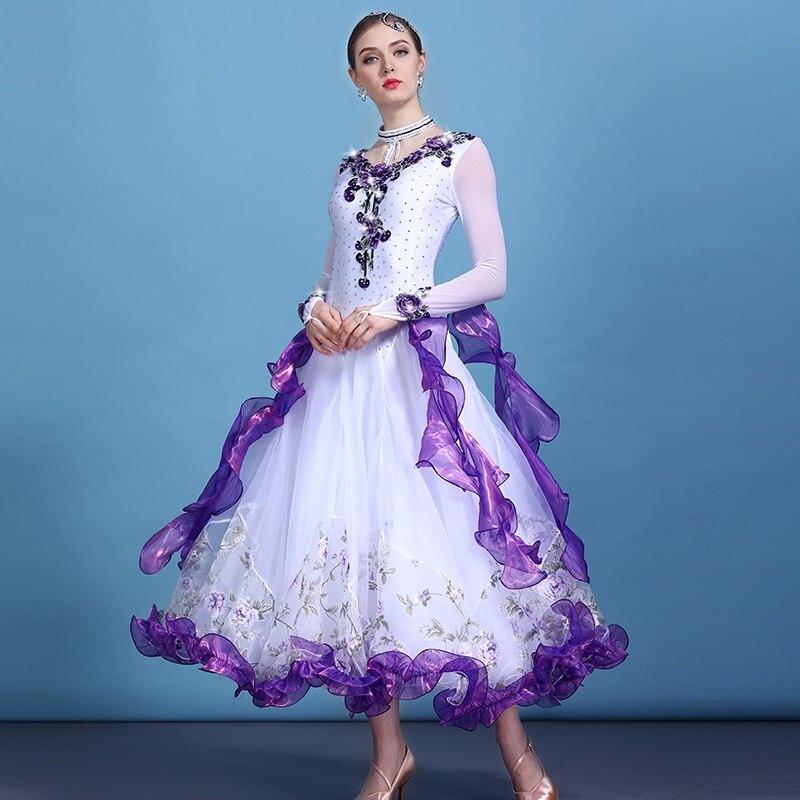 3 color ballroom dress waltz dance wear modern dance dress ballroom dance competition dresses fringe standard social dress tango