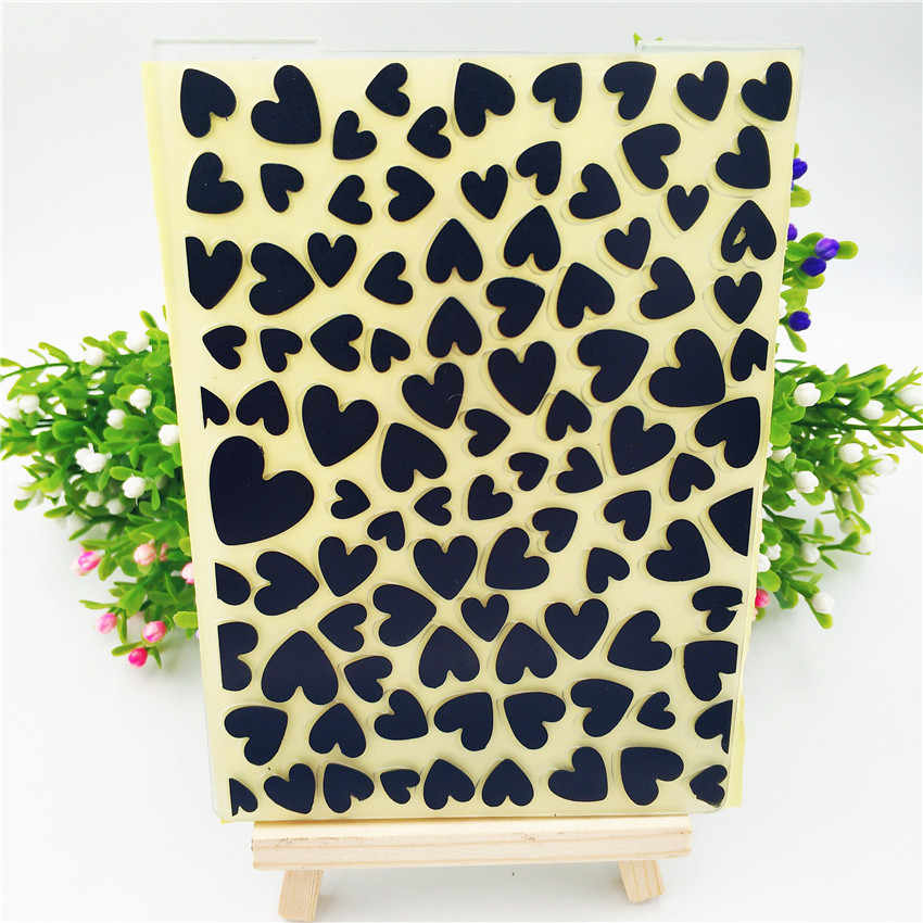 HOT plastic vol liefde template craft card making papieren kaart album bruiloft decoratie clip art relief clip Embossing mappen