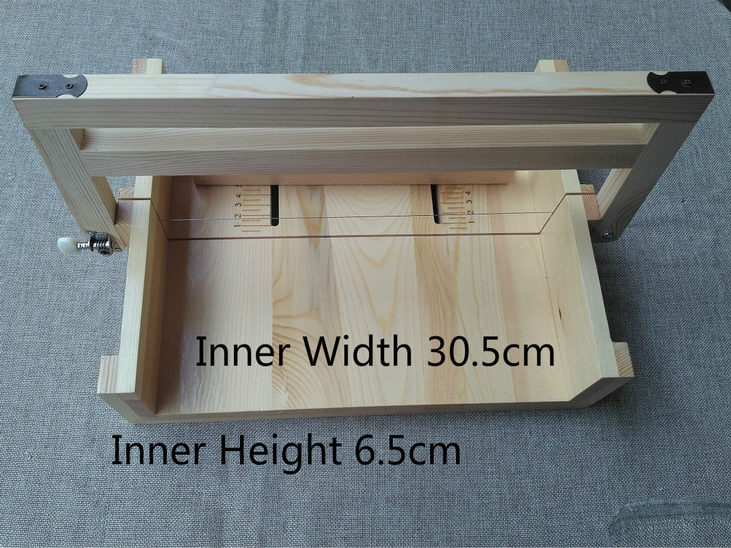 Wider Wood Soap Cutting Kits Soap Loaf Cutter With Large Stainless Steel Wire Slicer Soap Making Supplies