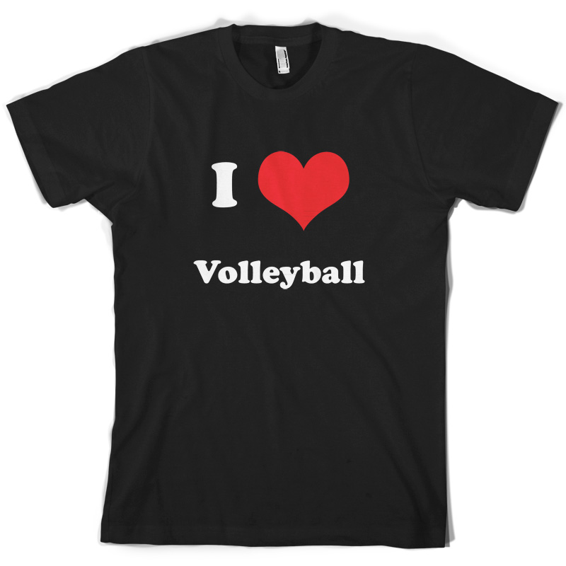 I Love VolleyballER Mens T Shirt 10 Colours Free UK delivery EquipmentMans Unique Cotton Short Sleeves O Neck T Shirt in T Shirts from Men 39 s Clothing