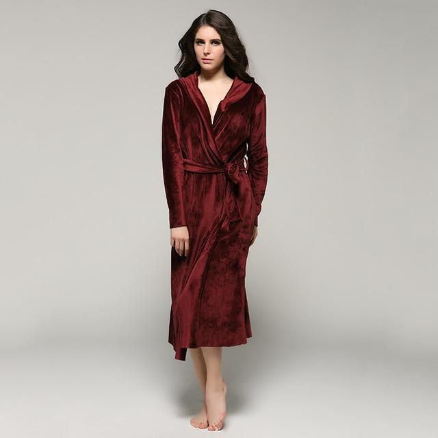 Women and Men High Quality Super Soft Fleece Velvet Couple Full Length Bathrobe Robes Lounge Wear Sleepwear Pyjama Nightgown