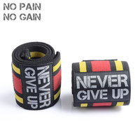 NO PAIN NO GAIN 1 Pc Fitness Elastic Bandage Hand Wrist Strap Special The Game Wrap Sport Wristband Support Gym Protector BSJHW