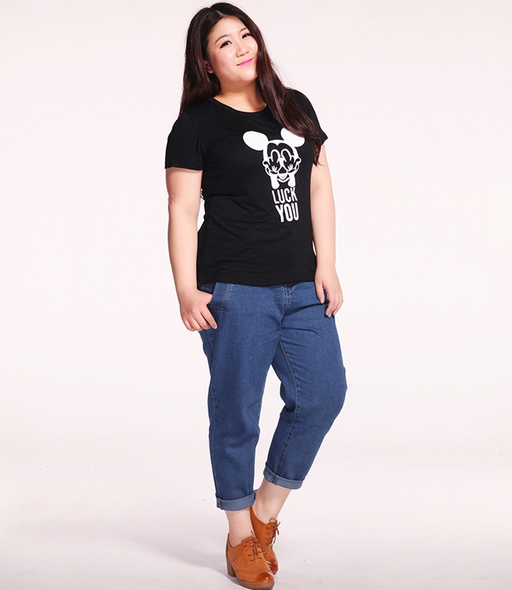 ba64d17513 2016 New Style Women High Waist Jeans Trousers Pockets Casual Loose ...