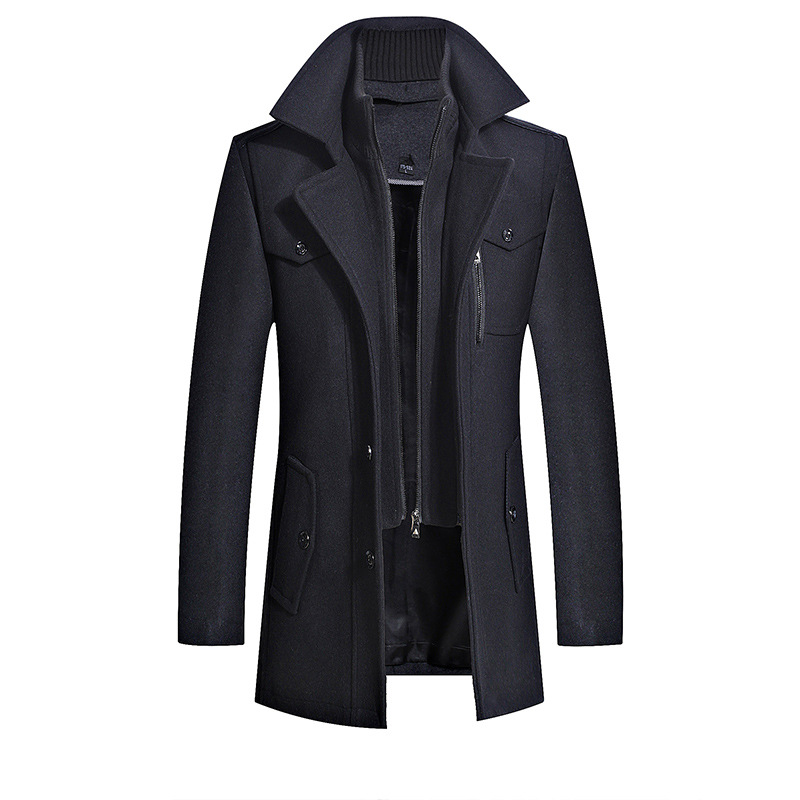 2020 New Casual Thick Wool Winter Coat Men Good Quality Double Color Mannen Jassen Winter
