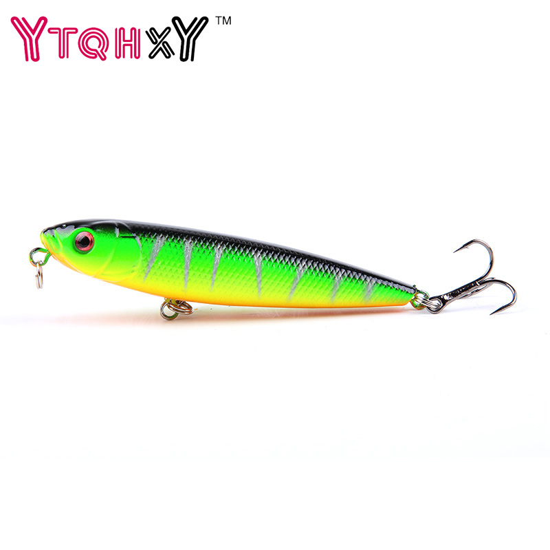 1Pcs 9g 8cm Pencil bait Topwater Floating Fishing lures Pencil Lure Hooks Crankbaits 5 Colors fishing tackle YE-17 new bass floating frog topwater fish fishing lure bait hooks tackle 60mm 9g