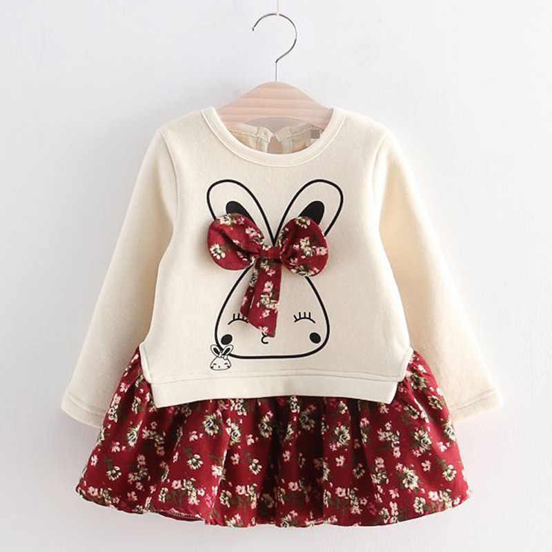 Mùa Đông 2019 Bé Gái Trang Phục Trẻ Em Áo Váy Cho Bé Gái Tay Dài Tiệc Giáng Sinh Trẻ Em Đầm Công Chúa Vestidos 3 4 5 7 Năm