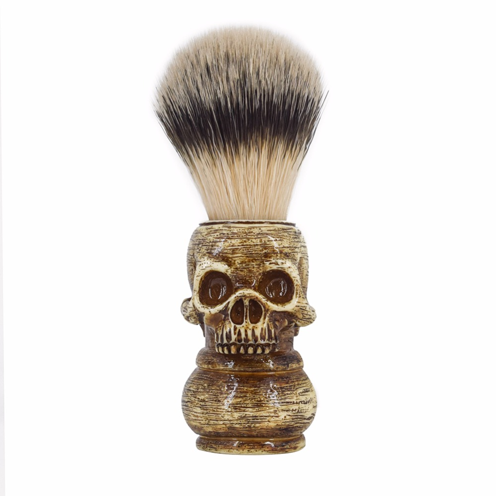 RIVER LAKE Wet Shaving Brush Animal Hair Bristles For Men's Beard Moustache DE Double Edge Blade Safety Razor Straight Shaver