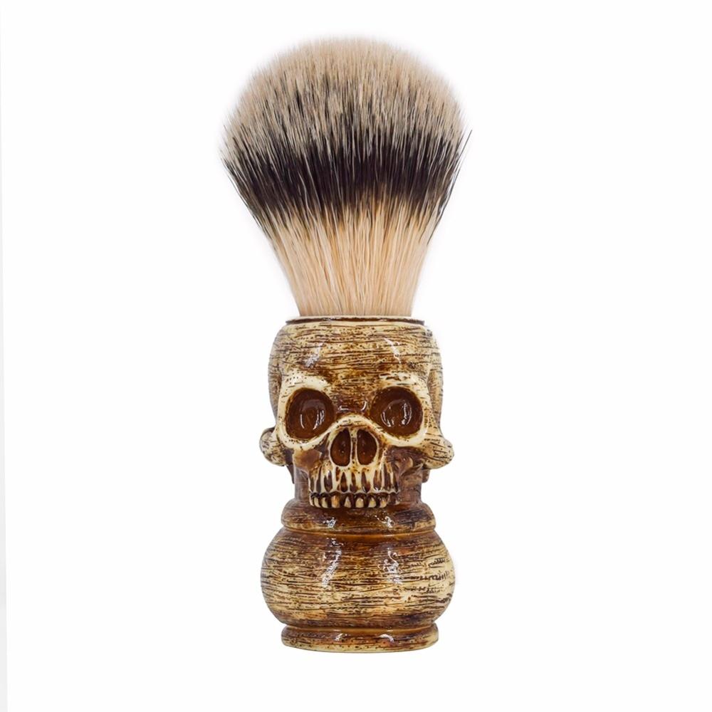 RIVER LAKE Wet Shaving Brush Animal Hair Bristles for Men's Beard Moustache DE Double Edge Blade Safety Razor Straight Shaver