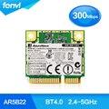 Atheros AR5B22 двухдиапазонный Беспроводной Половина Mini PCI-E карты 300 мбит Портативный беспроводной Wi-Fi Bluetooth BT 4.0 COMBO MINI PCI-e сети