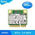 Atheros AR5B22 Dual band Wi-fi Metade Mini PCI-E card 300 mbps Sem Fio Portátil sem fio Bluetooth BT 4.0 COMBO MINI PCI-e rede