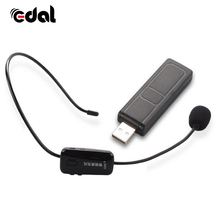 2.4G Wireless Microphone with USB Receiver 2 in 1 Headset Handhold Universal wireless Mic for Conference Teaching Tour Guide