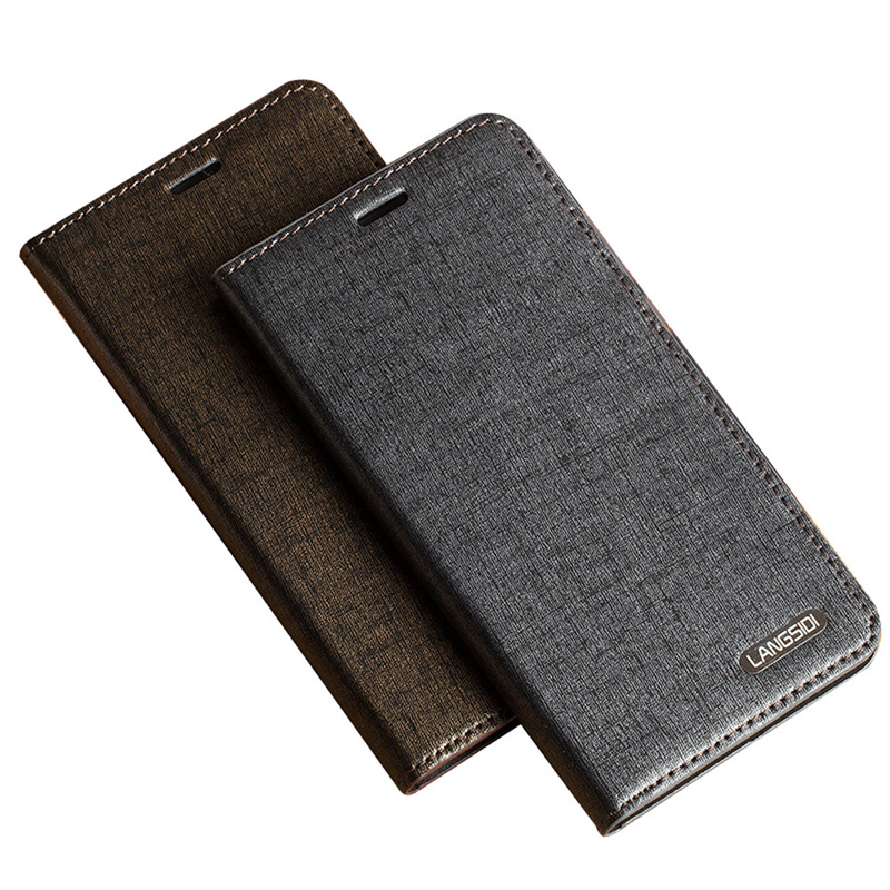 Luxury Genuine Leather Flip Case For iPhone 8 X case Business Style Diamond Texture 3 card slots For 6 6S 7 Plus Phone cover in Flip Cases from Cellphones Telecommunications