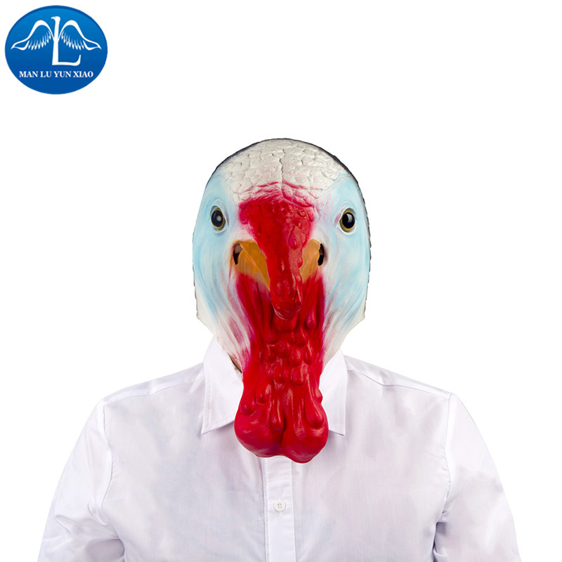 MANLUYUNXIAO Animal Fancy Dress Ideal Classic Realistic Chicken Mask for Halloween Props Wholesale