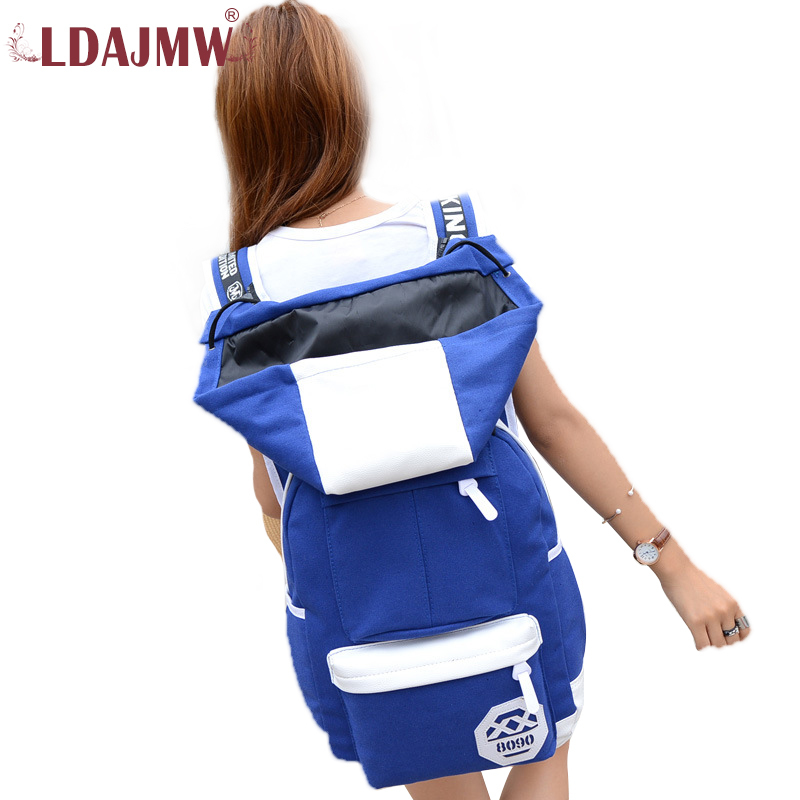 Ldajmw Canvas With Hats Both Shoulders Package Backpack Student Package Men's Travel Bags Male Bag Backpack For Teenagers