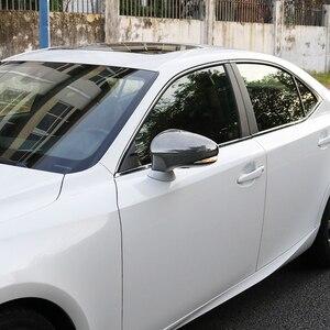 Image 5 - QHCP คาร์บอนไฟเบอร์วัสดุ 2 ชิ้น/เซ็ตกระจกมองหลัง COVER Protector สีดำสำหรับ Lexus IS300 200T 250 GS300 CT200 RC 2013 2019