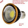 10 шт. Новинка PAR20 COB dimmable E27 LED прожектор 15 Вт par20 лампа теплый белый/холодный белый/чистый белый точечный светильник освещение