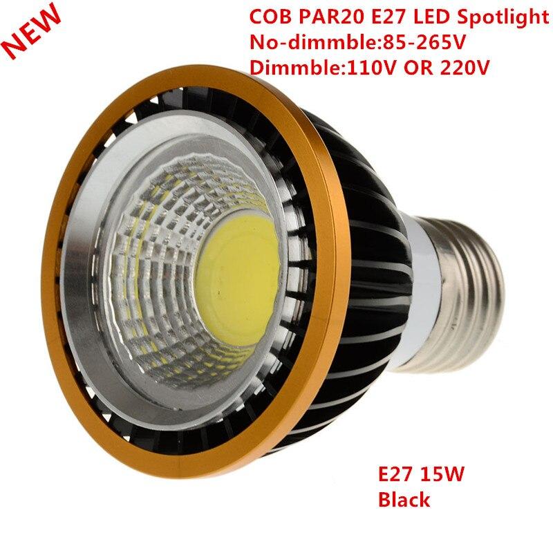 10 pièces plus récent PAR20 COB dimmable E27 LED Spot lumière 15 W par20 ampoule lampe blanc chaud/blanc froid/blanc pur Spot Downlight éclairage