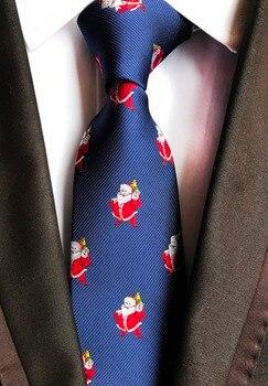 Nuevo diseño lazo Navidad nieve hombre 8 cm hombres del estilo corbatas  Festival cuello suave diseñador para hombres corbata carácter 59746f771b01