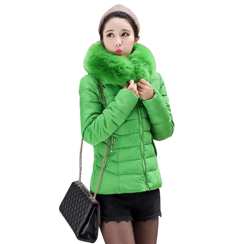 2a9267a220f LITTHING 2018 chaqueta de invierno para mujer Parkas abrigos grandes de  piel de imitación Collar con capucha chaqueta de moda femenina de color  caramelo ...
