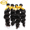 "Unprocessed virgin hair free shipping, Peruvian virgin hair loose wave,top Grade,human hair extension. 3pcs/lot ,color 1b#,8-30"""