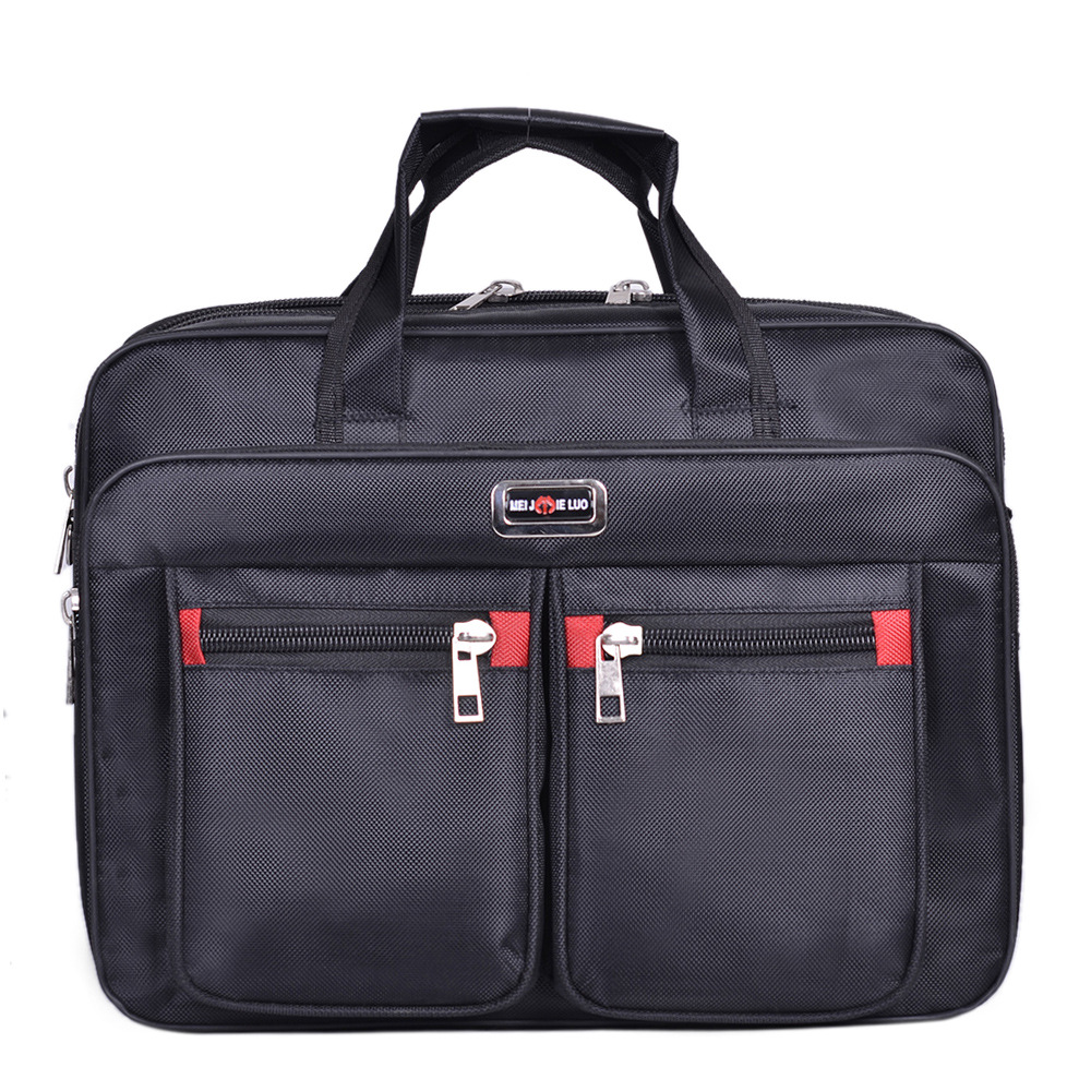 Business Computer Handbags Portable Zipper Shoulder 15.6 Inch Laptop Bag Men Shoulder Bag Black Waterproof Men's Office Bag