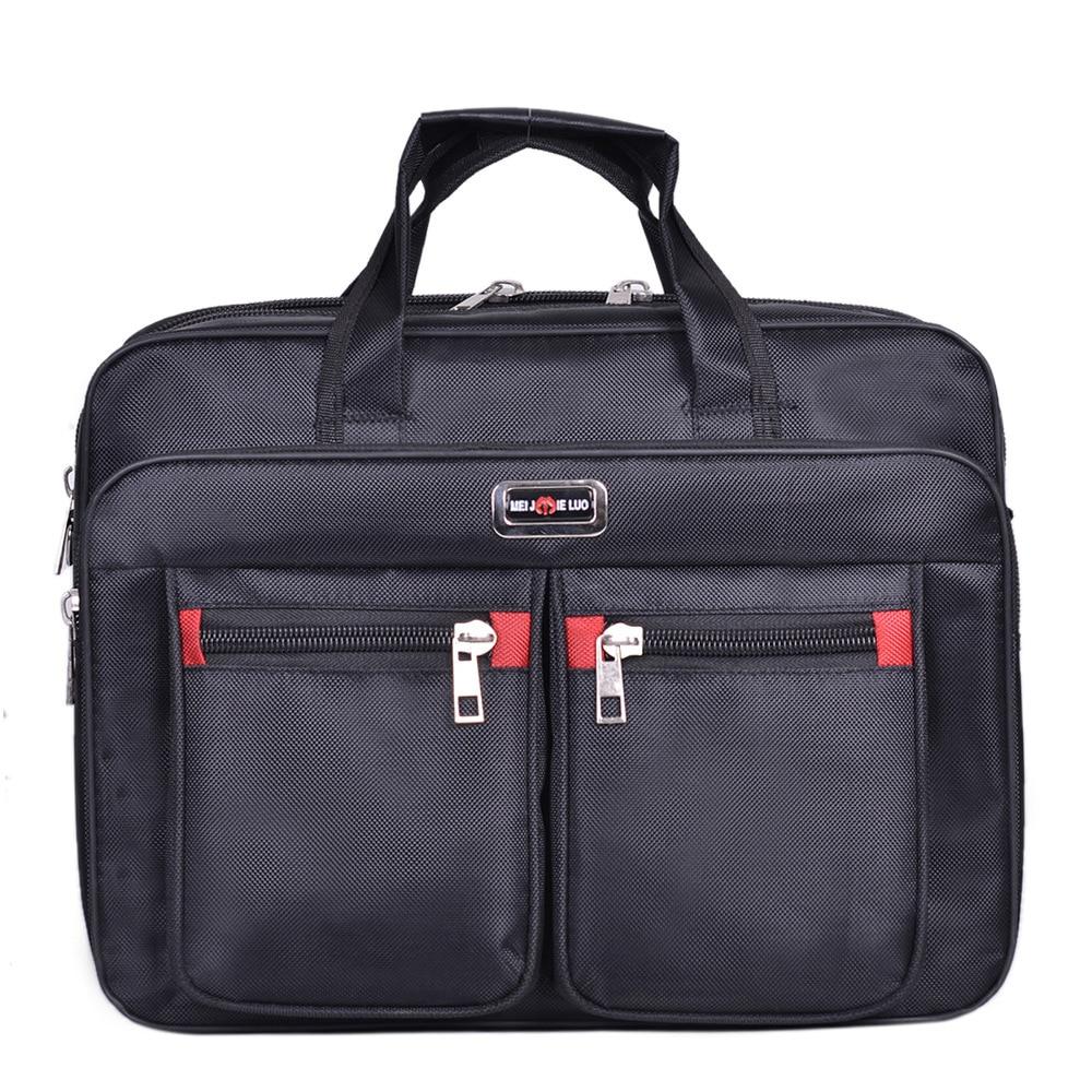 Business Computer Handbags Portable Zipper Shoulder 15.6 Inch Laptop Bag Men Shoulder Bag Black Waterproof Men Office Briefcase
