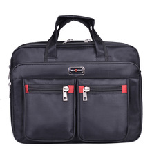 Business Computer Handbags Portable Zipper Shoulder 15.6 Inch Laptop Bag Men black Waterproof mens Office