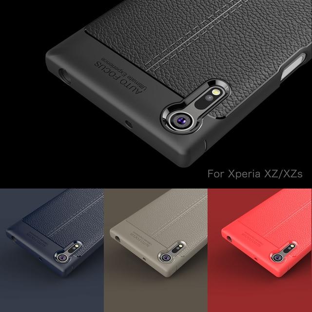 Funda de TPU suave Wolfsay para Sony Xperia XZ, funda de teléfono de silicona con textura de cuero para Sony Xperia XZ F8332 / XZS G8232 5,2 pulgadas