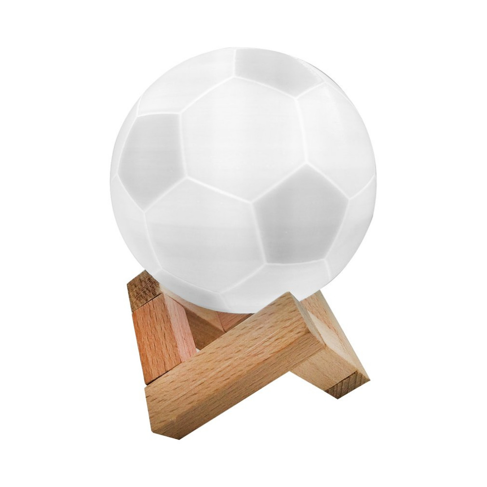 3D Print Football Lamp Rechargeable 7 Colors Change Hand Patted Bedroom Night Light Home Decor Creative Lamp World Cup Souvenir
