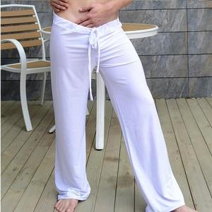 Pijama de Hombre para Hombre Pantalones Casual de Pijama de los hombres de lounge de seda pantalones hombres dormir de viscosa pantalones de Casa Sexy Pijamas