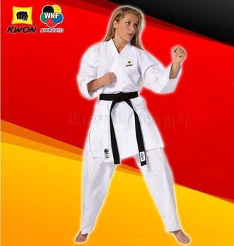 55082ad33cd4d WKF onaylı Karate GI Almanya KWON Karate eğitim üniformaları Standart Karate  maç takım elbise 3D hattı malzemeleri üniformaları