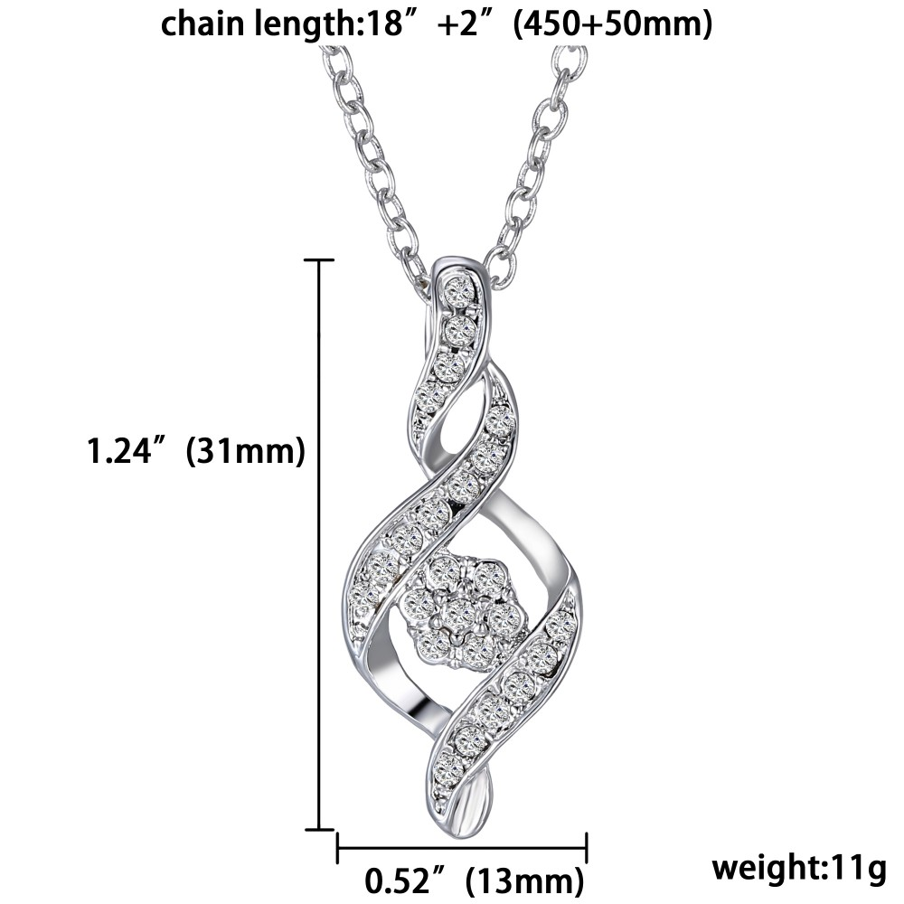 Austria Crystal Infinity Necklace