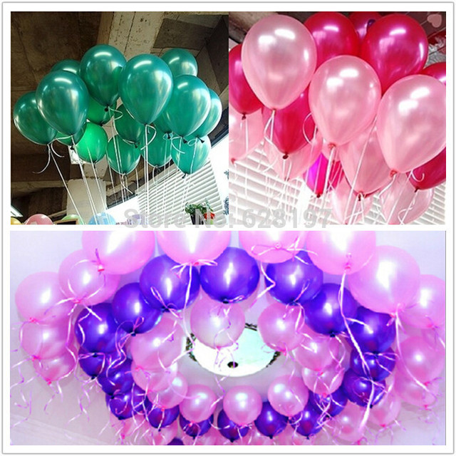 Cheap 100pcs Bag 10inch Latex Pearl Balloons Round Shape Party