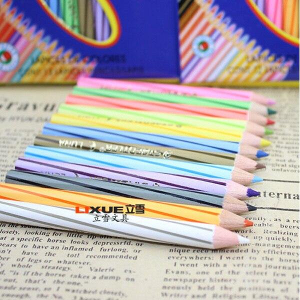 d3870e076 12 الألوان اللون لون قلم رصاص نوع قصيرة عالية الجودة غرامة رسم لوحة رسم  فنان محترف