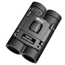 BIJIA HD 20x22 Бинокль Профессиональный охотничий Мини Складной Карманный телескоп BAK4 FMC оптика Высокое качество Видение открытый подарки