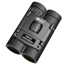 BIJIA HD 20×22 Binoculars Professional Hunting Mini Folding Pocket Telescope BAK4 FMC Optics High Quality Vision Outdoor Gifts