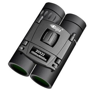 Image 1 - BIJIA HD 20x22 Binoculars Professional Hunting Mini Folding Pocket Telescope BAK4 FMC Optics High Quality Vision Outdoor Gifts