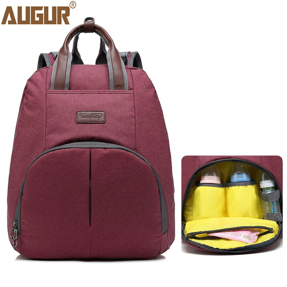 AUGUR New Mummy Bags Large Capacity Baby Travel Diaper Backpack Designer Maternity Nappy Bags Nursing Bag Baby Care For Dad Mom diaper bag mummy maternity nappy bags large capacity baby travel backpack designer nursing bag baby care for dad and mom 894286