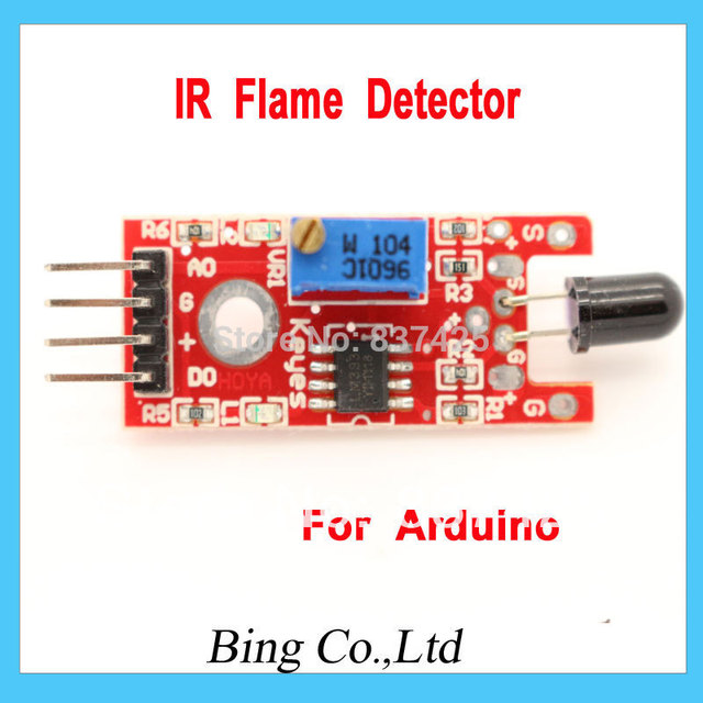 IR Flame Sensor Module Detector Smartsense For Temperature Detecting Suitable For Arduino Free Shipping Wholesale