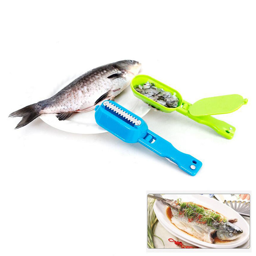 Stainless Steel Scales Skinner Kitchen To Scale fishing tools Vegetable Cutter Kitchen Tools Gadgets cleaning fish skin Kitchen Tools & Cooking Accessories cb5feb1b7314637725a2e7: Black|Random