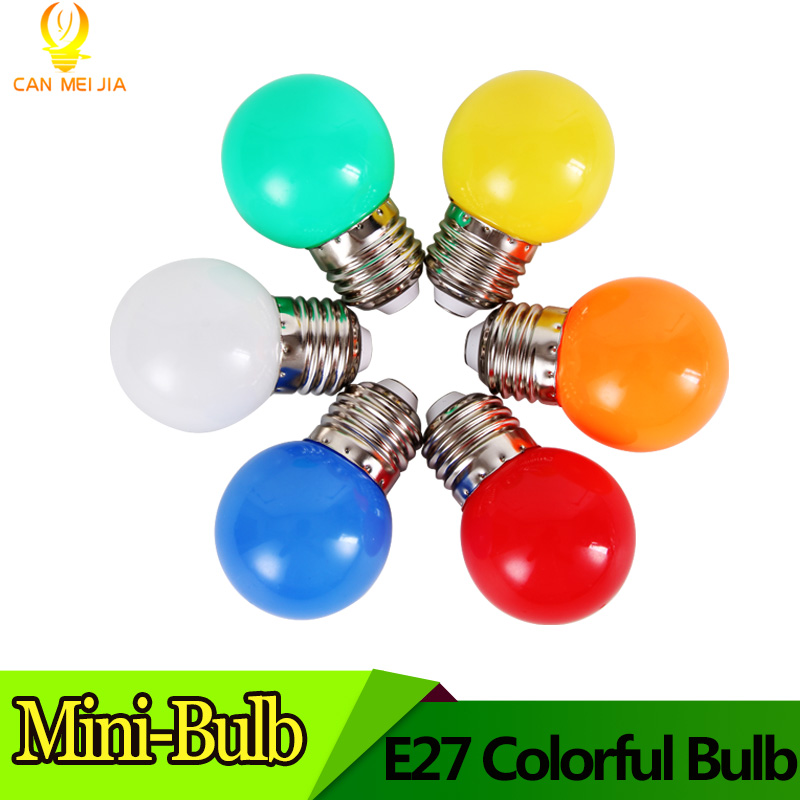E27 LED Light Bulb 3W RGB Bombillas Led E27 Colorful Red Blue Green Yellow Orange White for Chrismas Wedding Decoration 220V 220v home lighting colorful led bulb ampoule e27 3w energy saving light red orange yellow green blue milk pink lamp smd2835
