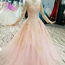 AIJINGYU Lace Organza Wedding Dresses Ball Gowns