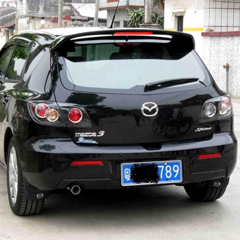 באיכות גבוהה ABS ספוילר למאזדה 3 M3 Hatchback 2006 כדי 2013 אחורי אגף פריימר או שחור או לבן ספוילר