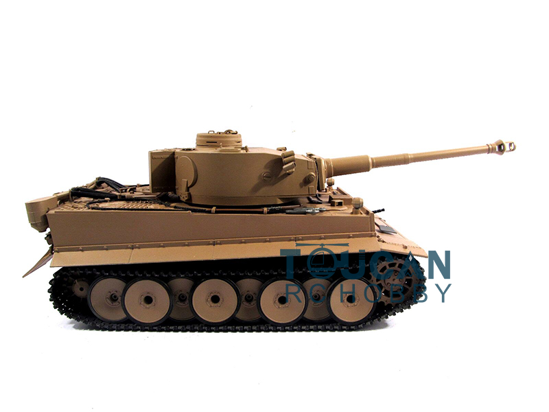 tank kaplan 1 16 metal - 100% Metal Mato 1/16 Tiger I RTR RC Tank Model Infrare Barrel Recoil Yellow 1220 TH00647