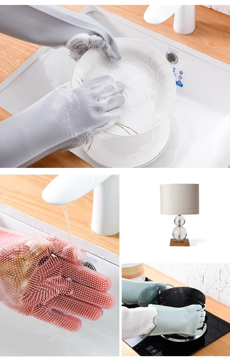 Magic Silicone Dish washing Scrubber Gloves