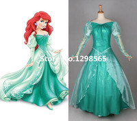 Custom Made the Little Mermaid Costume Princess Ariel Dress Deluxe Green Dress For Party